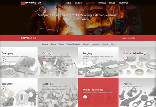響應式網頁設計作品,Huntington Metal Parts